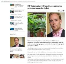 MP-ledamot vill legalisera cannabis hemsidan