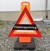 Skylt filminspelning lexan