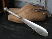 Skohorn Randig antik silver