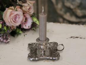 Kammarljusstake antik silver