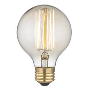 Glödlampa klot m rak tråd