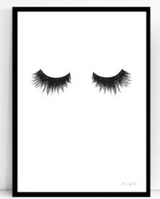 Eyelashes, 30x40