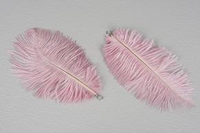 Fjäder hängande rosa, 6-pack