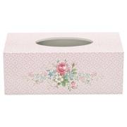 Tissue box/Näsduksask Marie pale pink Greengate