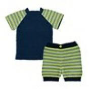 Onion Randig t-shirt och shorts (1390)