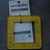 Gauge checker 5x 5 cm - Gauge checker gul