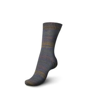 Regia Fine Stripes Color, 100g - Fine stripe color, 3706 grårandig