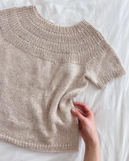 Petite Knit mönster - PetiteKnit Ankers sommartröja (XS-3L)
