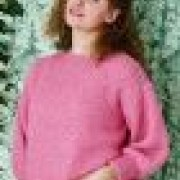 Permin mönster Mosstickad sweater i Alice, 896249