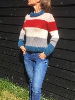 Onion mönster bredrandig sweater i mohair + ull, 1584 -