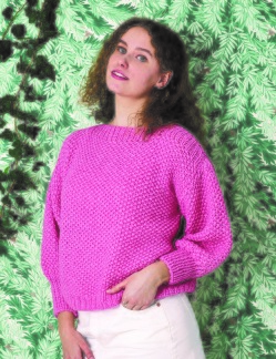 Permin mönster Mosstickad sweater i Alice, 896249 - Permin mönster mosstickad sweater, 896249