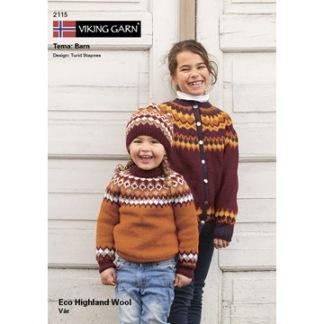 Viking häfte 2115, Eco Highland tema barn - Viking häfte 2115, Eco Higland Wool- barn