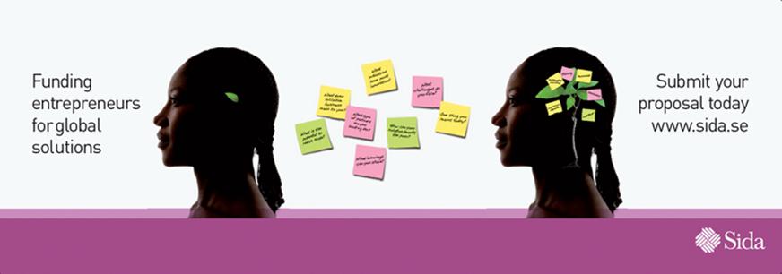 Designkoncept på uppdrag av Njord för SIDA. Projekt Innovations Against Poverty. Vepa för event.