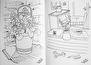 Målarbok - Blommor & fika