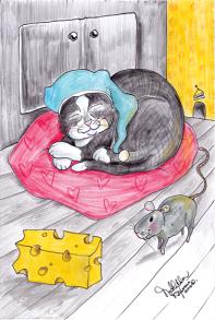 Vykort katt