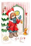 Julkort - Snögubbar & nallar 10-pack