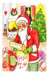 Julkort - Tomtar 10-pack