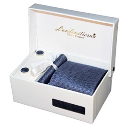 Slips, Näsduk, Manschettknappar, presentbox - Labyrinth Tie Gift Box
