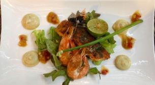 housesmoked salmon and shrimps/starter