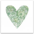046 stort hjärta grönt