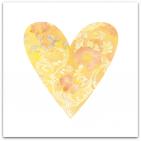 049 stort hjärta gult