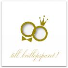 052 till bröllopsparet! - stansat hål, ringar i guldlack