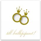 053 till bröllopsparet! - stansat hål, ringar i guldlack