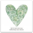 080 stort grönt hjärta med text