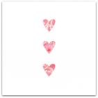151 3 rosa hjärtan