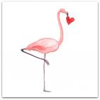 153 flamingo med hjärta