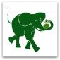 099 grön elefant
