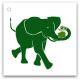 099-grön-elefant