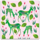204 garden life gröna rådjur rosa