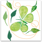147-fjäril-grön-o-vit