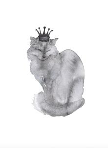 260 print katten med krona
