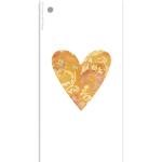 266 HS orange hjärta