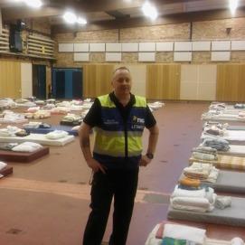 Upprättande av evakueringsboende, storinsats 2015