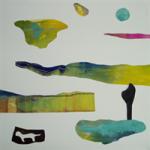 Vilse, 46x46 cm, collage,  Pris 3000:-