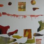 Instinkt, 62x72 cm, collage, Pris 5000:-