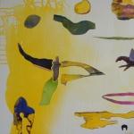 Pröva dina vingar, 58x58 cm, akryl/collage, Pris 4000:-