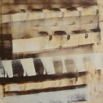 Konsert, 62x62 cm, akryl, Pris 5000:-, oinramad