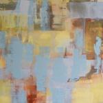 Gryning, 67x67 cm, akryl, Pris 7000:-