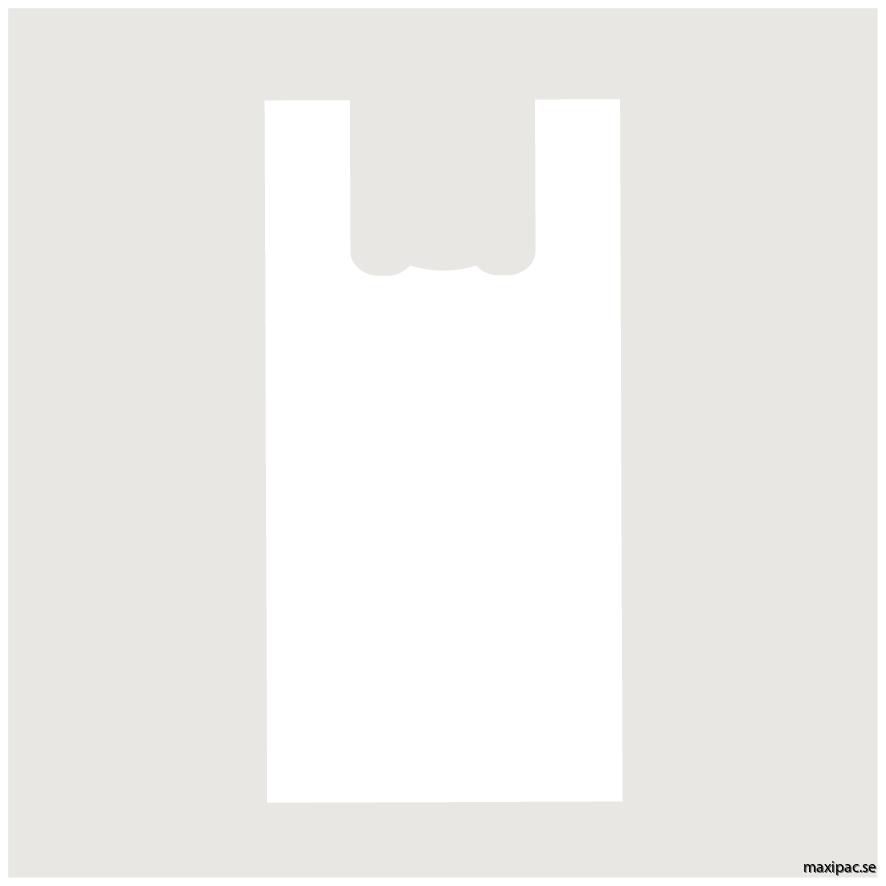17 liter vit bärkasse 1500st/kartong