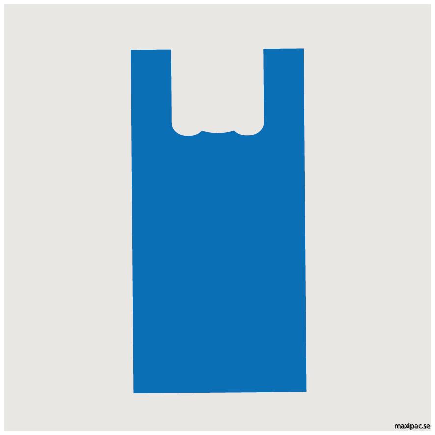 Bärkasse blå 14 liter