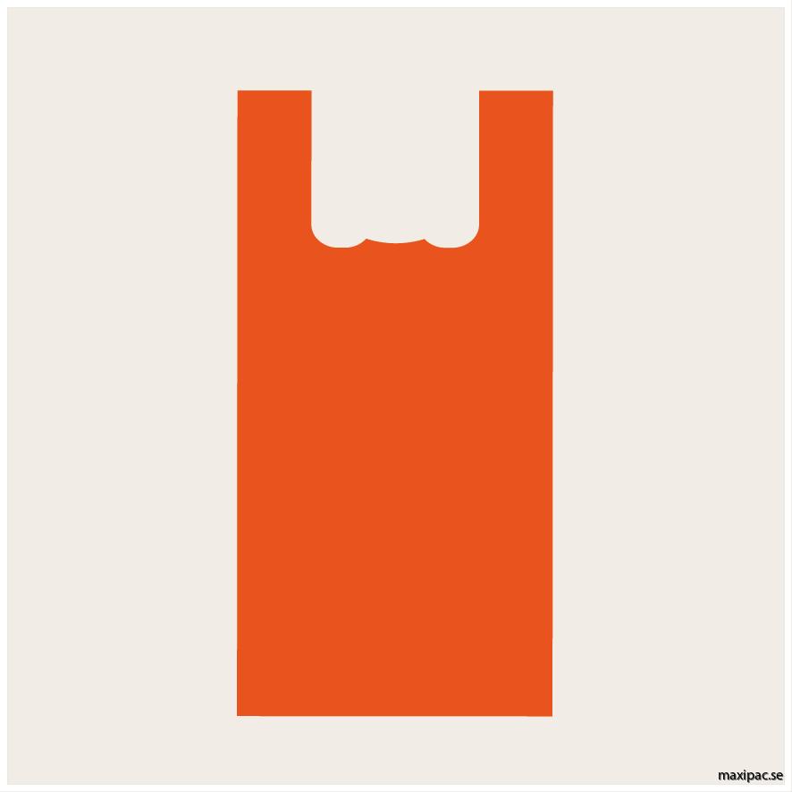 17L orange bärkasse