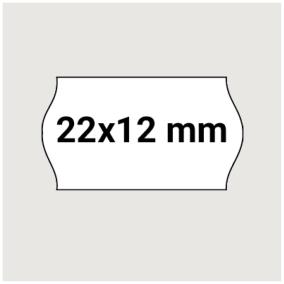 Prisetikett 22x12mm 10500st - Vit 7x1500st.