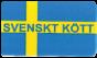 Etiketter med text 37x22mm 2000st - Svenskt kött