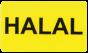 Etiketter med text 37x22mm 2000st - HALAL
