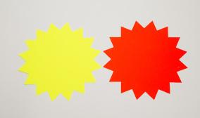 Skyltkartong - Stjärna 25 st - 180mm röd
