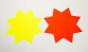 Skyltkartong - Stjärna 25 st - 350mm gul